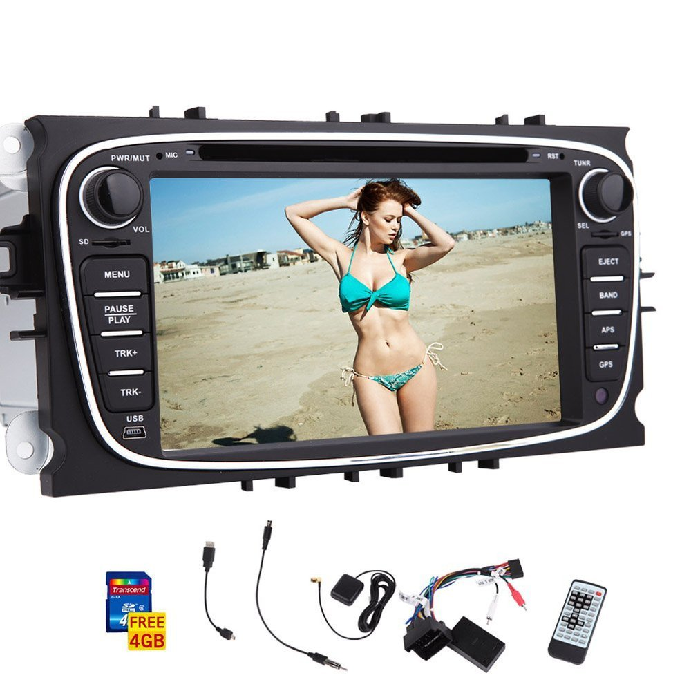 In Dash GPS Car Stereo for Ford Focus Mondeo 7-inch Touch Screen car DVD CD video player Bluetooth SD USB radio AM FM RDS