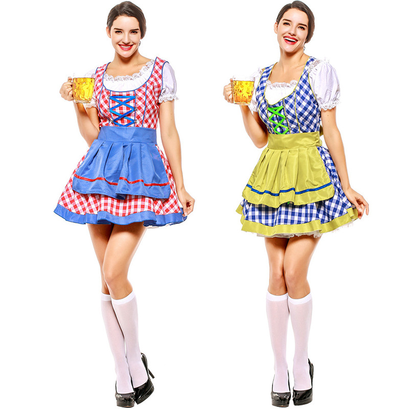 Tradition Bavaria Festival Beer Carnival Oktoberfest Dirndl Women Bar Waitress Beer Maid Wench Outfit