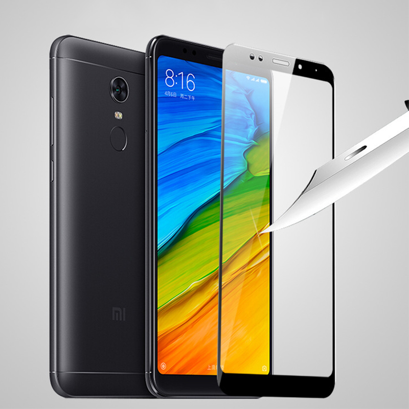 9H Full screen hard edges Tempered Glass For Xiaomi Redmi 5 5plus Cover Screen Protective Protector Film 5Plus