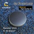"""Cloudray Hohe Qualität Ge Fokussierung Objektiv für CO2 Laser Gravur Schneiden Maschine DIa. 12mm Brenn 50 8mm 2 """"Kostenloser Versand-in Objektive aus Werkzeug bei"""
