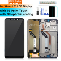 6.18Original For Xiaomi F1 LCD Display Touch Screen Digitizer Assembly for xiaomi Pocophone F1 LCD with frame repair parts
