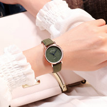 Ins Fasion Clock Women Small Size Wristwatches Engrave Pink