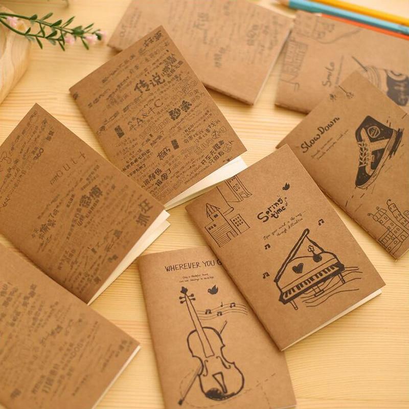 Kraft Paper Book Cover ~ Pcs lot kraft paper cover notebook kawaii diary book