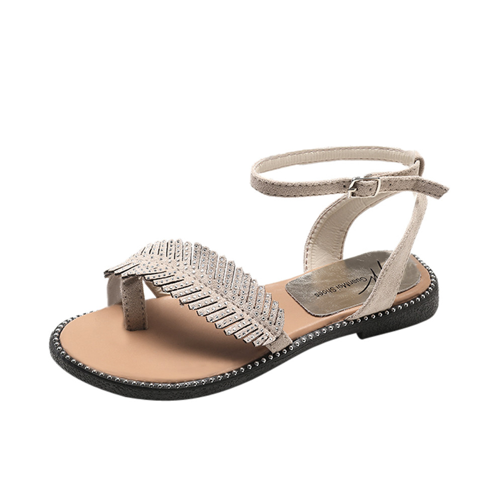 Women Sandals Gladiator Summer Women Shoes Plus Size 35-40 Flats Sandals Shoes For Women Casual Buckle Rome Style Sandalias fashion retro style fringe gladiator sandals women rome peep toe flats casual dress shoes woman big size 34 41 summer slipeers