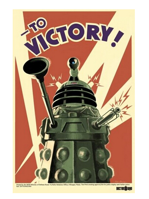 Art Doctor Who To Victory Classical Poster Custom Canvas Poster Art Home Decoration Cloth Fabric Wall Poster Print Silk Fabric
