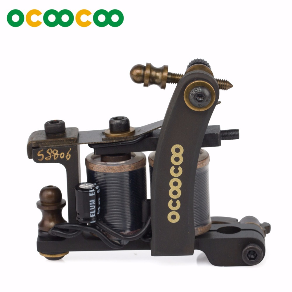 OCOOCOO T650A Pure Cupper Housing 12 Wrap Coil Tattoo Machine Gun Permanent Makeup Coil Tattoo Gun