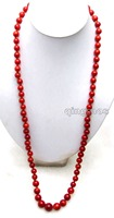 Luxuriant SALE Big Red 9 15mm Round Natural Coral 34 Neckalce Nec5890 Wholesale Retail Free Shipping