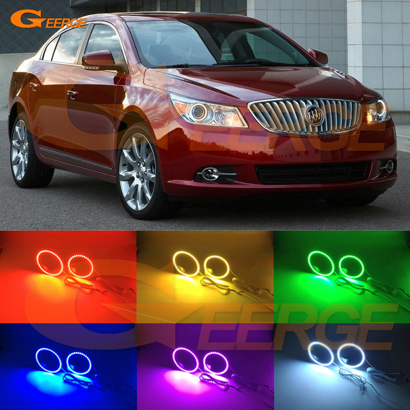 For Buick LaCrosse 2010 2011 2012 XENON HEADLIGHT Excellent Multi-Color Ultra bright RGB LED Angel Eyes kit halo rings право п дручник 2010 2011
