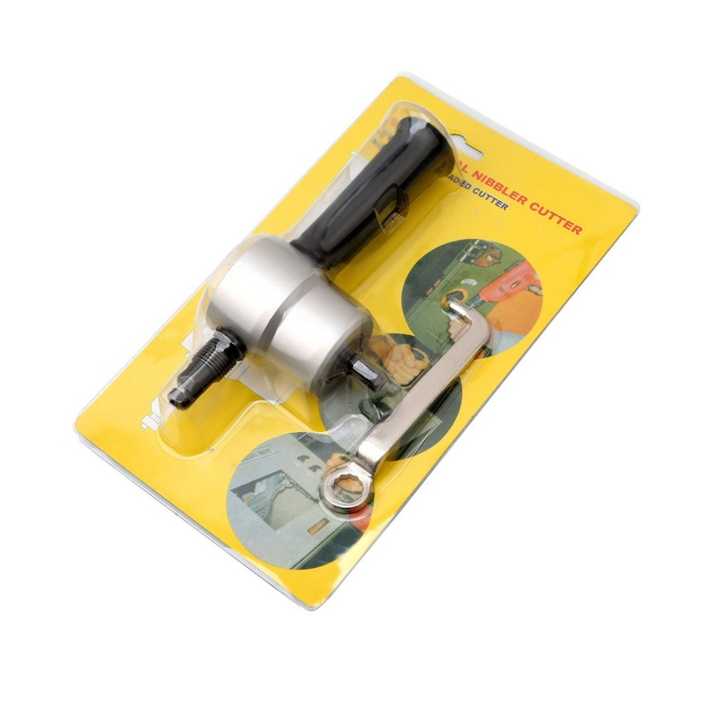 Professional 360 Degree Nibble Metal Cutting Tools Auto Car Repair Double Head Sheet Nibbler Hole Saw