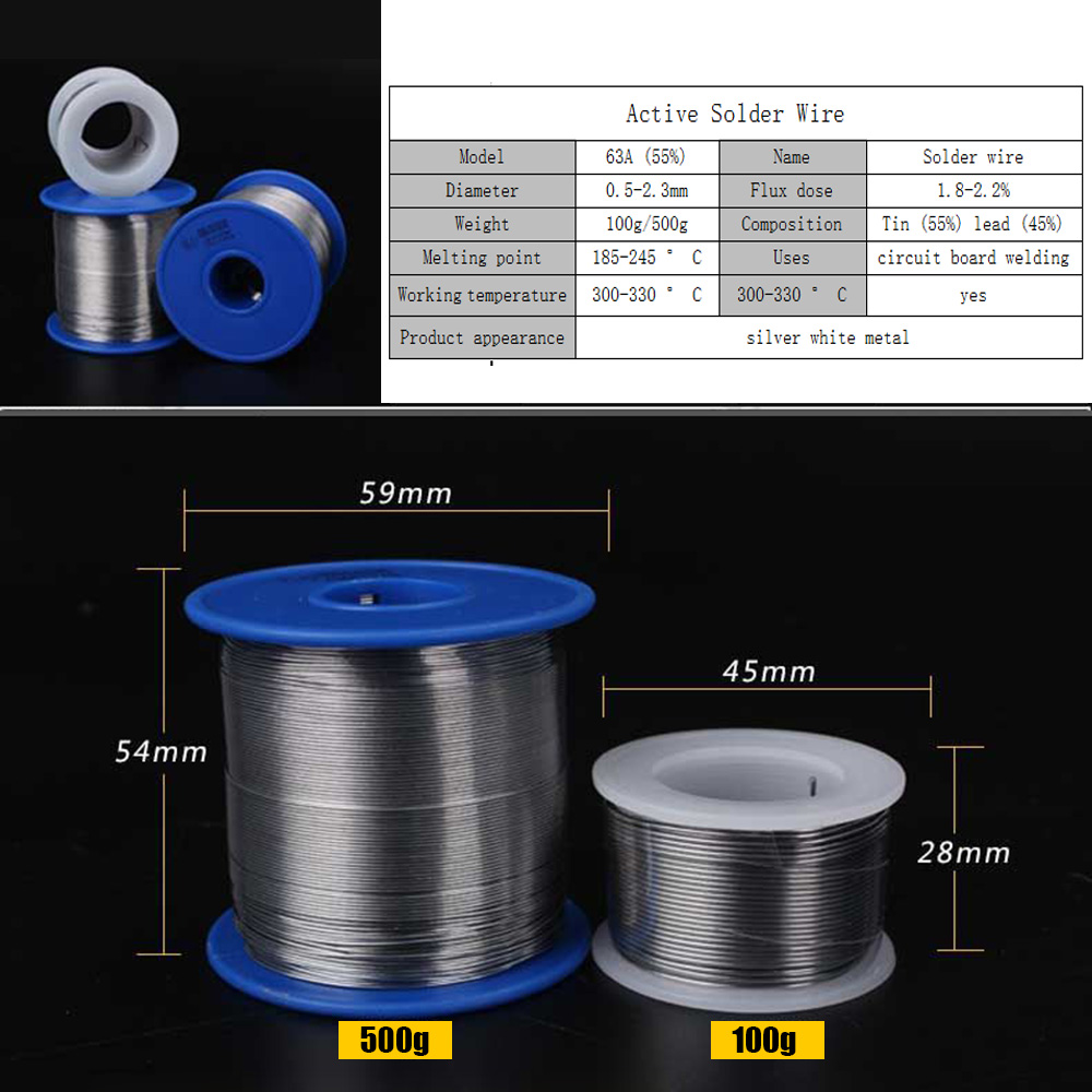 0 5 0 8 1 0 1 2 1 5 2 0 2 3mm Lead Solder Wire Rosin Core with Flux in Wire Melt Rosin Core Solder Soldering Wire Dropshipping in Welding Wires from Tools