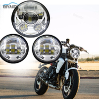 4 5 Inch LED Passing Fog Lamps Auxiliary Projector Spot Driving Lamp 5 75 Inch