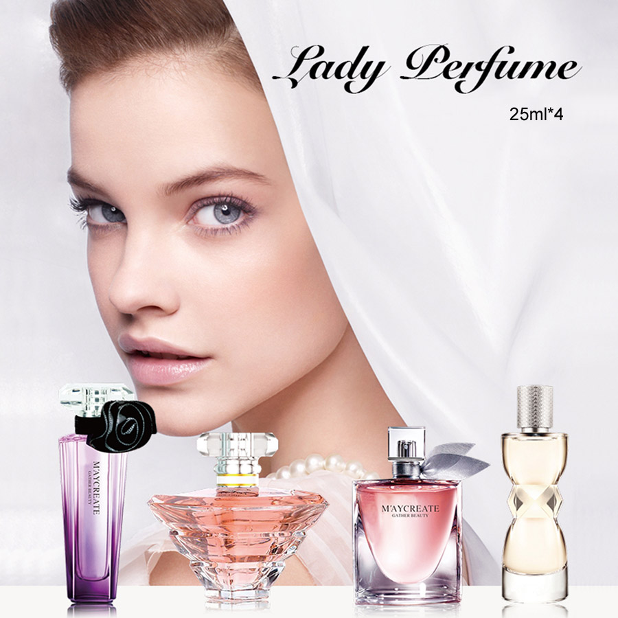 1 Set Perfumed And Fragrances For Women Spray Deodorant Female Long Lasting Flower Lady Parfum Glass Bottle 25ML*4 PCS Fragrance 3