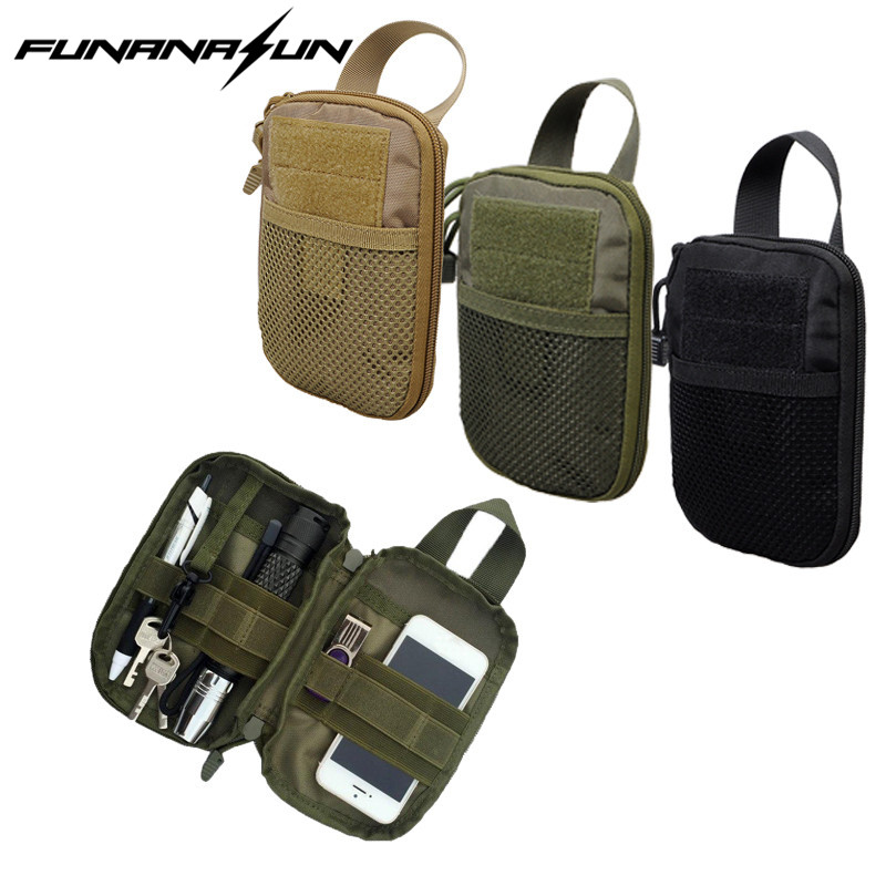 1000D Nylon Tactical MOLLE EDC Accessory Pouch Bag Outdoor Sports Hiking Utility Gear Bag Hunting Waist Pack cqc tactical molle system medical pouch utility edc tool molle pouch waist pack phone pouch hunting 1000d molle bag