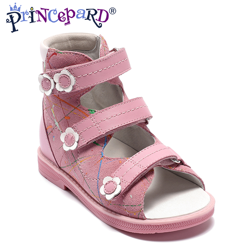 Princepard pink Summer Baby arch support Orthopedic Sandals antiskid Girl Shoes,Super Quality Kids Children Soft Sole Shoes