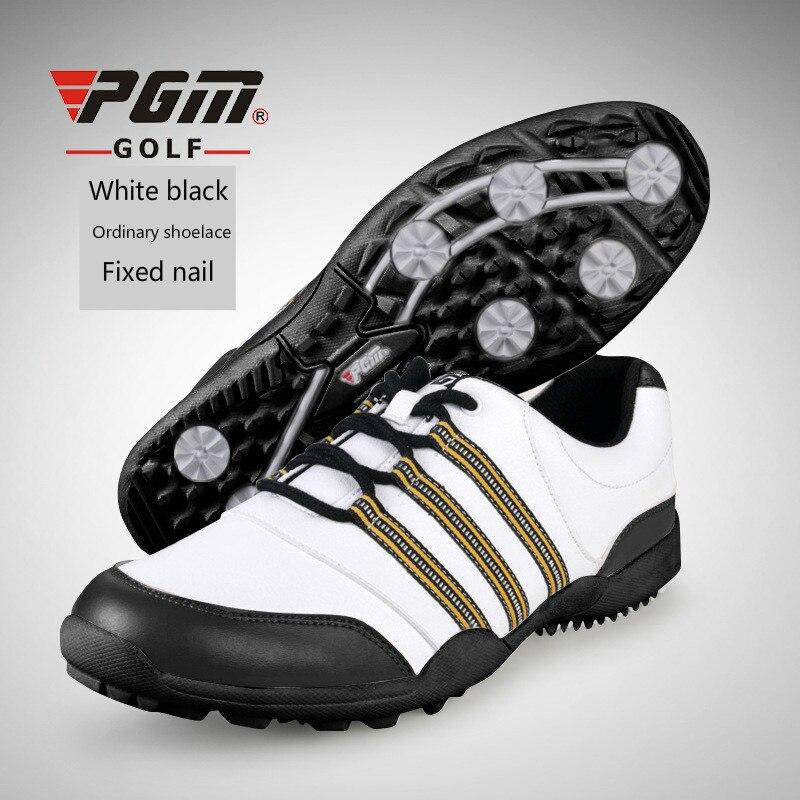 Sapatos de Golfe Sapatos à Prova Tênis para Homens Ultraleves Água Esportes Respirável Anti-slip Tamanho Grande 2020 Pgm d' Mod. 175508