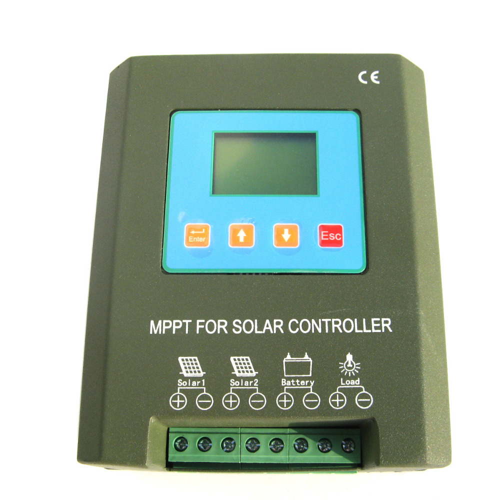 40A 24V MPPT solar panel power charge controller regulator LCD display protect lcd 30a 12v 24v mppt solar panel regulator charge controller