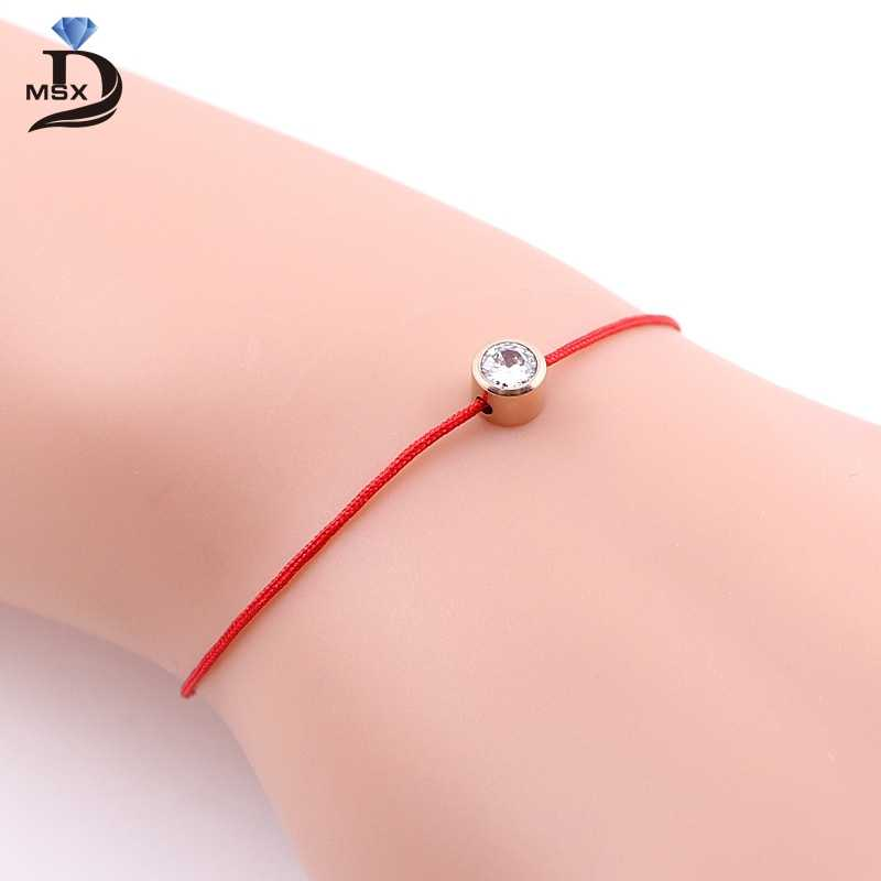 New Single Crystal Simple red String Bangle Red Line Bracelets Red Rope Best Gift For Women Fine Jewelry bijoux