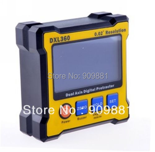 Digital Protractor Inclinometer High Quality DXL360 Dual Axis Level Measure Box Angle Ruler Elevation Meter Free