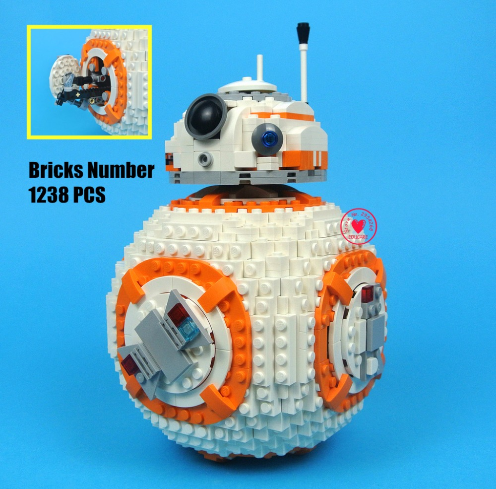 New star wars bb8 Robot starfighter fit legoings star wars technic figures model Building Block bricks Toy 75187 gift kid boys