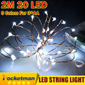 9 Colores Con Pilas 2 m 20LED Luz LED de Cadena Impermeable Llevó Luces De La Boda Del Partido de Hadas ZK50
