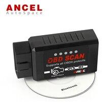 100% Оригинал Ансель ELM327 V1.5 Bluetooth OBD2 Scan Tool Для Android OBD 2 II OBDII Автомобильный Сканер ELM 327 В 1.5 ОДБ ODB2