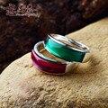 Стерлингового серебра 925 подлинная красный корунд агат кольца дамы богемия подруга подарок природного самоцветы женщины ювелирные изделия