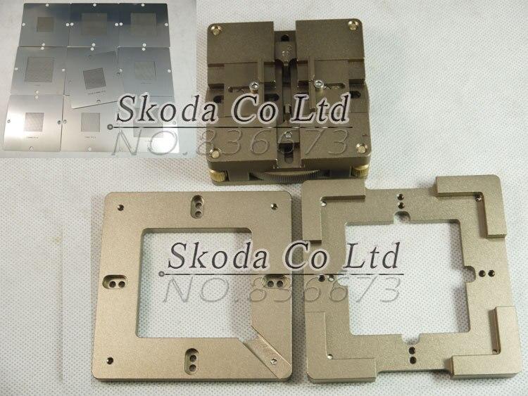 Free shipping Aluminum alloy 80/90mm BGA Reballing Station+10 pcs 90*90mm BGA Universal Stencils free shipping 90