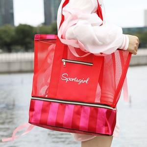 Image 5 - Femme fourre tout sacs à main femmes été plage Sac concepteur voyage bagages sacs à bandoulière humide sec séparation Sac à main Sac a main