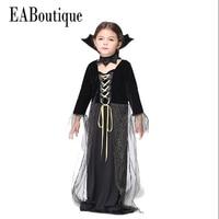 2016 Hot Sale High Quanlity New Halloween Vampire Queen Halloween Costumes For Kids Girls Costumes 2