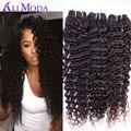 3 ШТ. али мода волосы бразильский девственные волосы глубокая вьющиеся Девственницы Бразильские вьющихся волос Необработанные человеческих волос weave бразильский глубокая волна