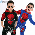 Hot!! Spring Autumn Baby Boy Spiderman Sports suit Tracksuits Kids 2pcs Clothing sets 100-140cm Casual Cotton clothes Coat+Pant