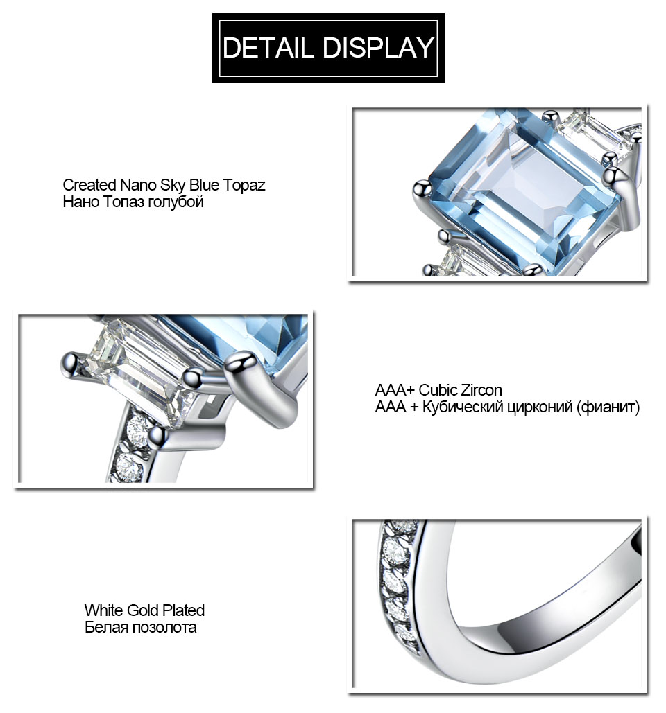 HTB1ov4cl8jTBKNjSZFwq6AG4XXaJ UMCHO Blue Topaz Gemstone Rings for Women Genuine 925 Sterling Silver Aquamarine Ring Romantic Wedding Engagement Fine Jewelry