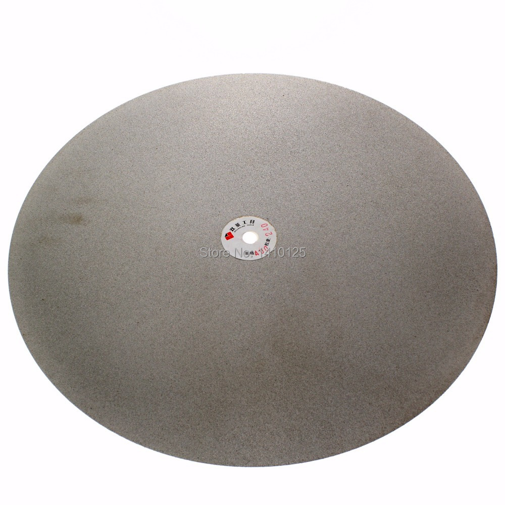 16 inch 400mm Grit 240 Diamond coated Flat Lap Disk Grinding Polish wheel 6 inch lapidary concave arc diamond coated grinding wheel grind spherical 6 mm ilovetool