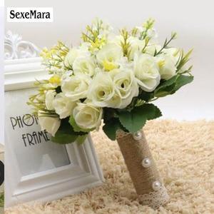 Image 4 - SexeMara 2019 ใหม่แต่งงานเจ้าสาวโรแมนติก Wedding Bouquet เจ้าสาวอุปกรณ์เสริม