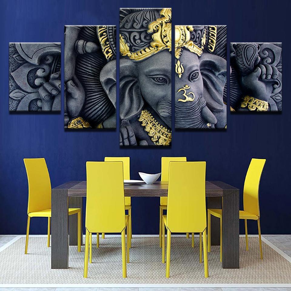 Lona HD imprime posters decoración del hogar 5 unidades dios ...