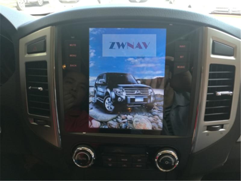ZWNVA Tesla style Screen Android 7.1 Car GPS Navigation Radio No DVD Player For MITSUBISHI PAJERO V97 V93 Shogun Montero 2006 + black plastic shell car reserve camera auto wire 5 car rear camera adapt for mitsubishi pajero zinger l200 v3 v93 v5 v6 v8 v97