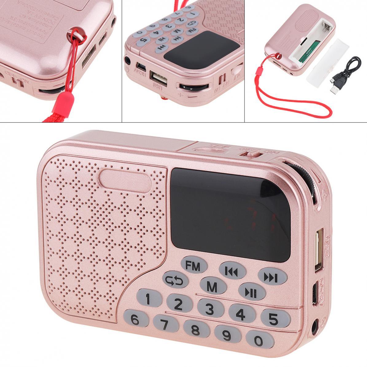 Radio Sanft E55 Tragbare Radio Mini Audio Karte Lautsprecher Fm Radio Mit 3,5mm Kopfhörer Jack Für Outdoor/home 100% Original