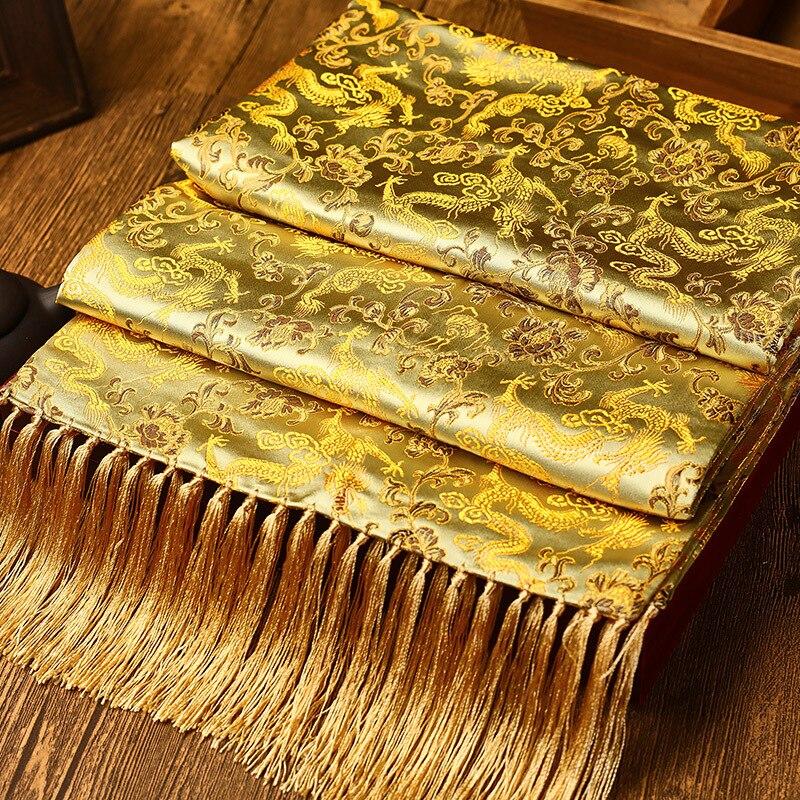Classic Dragon Women Muffler Elegant Chinese Style Scarves Wrap Traditional Nanjing Yunjin Scarf Shawls China New Year Gift