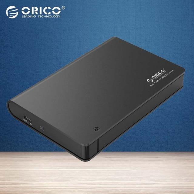 "ORICO 2598C3 Алюминий 2.5 ""USB3.0 SATA3.0 HDD и SSD Корпус Типа с Жесткого Диска Коробка UASP Поддержка и 9.5 мм и 12.5 мм 2 ТБ HDD и SSD-Черный"