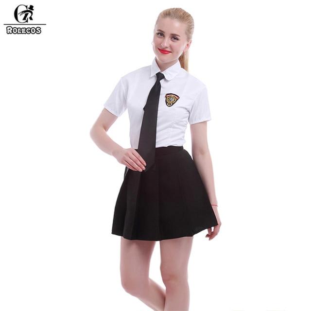 Rolecos Japanese High School Uniform Girl Sailor Dress Whiteblack