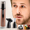 Kemei KM-6629 3 in 1 Multi Electric Shaving Nose Hair Trimmer Safe Face Care Shaving Trimmer For Nose Trimer for Man and Woman