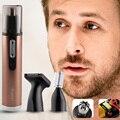 Kemei km-6629 3 en 1 multi eléctrico nose hair trimmer de afeitar seguro de Cuidado de La Cara Recortador Para Nariz Trimer Afeitar para Hombre y mujer