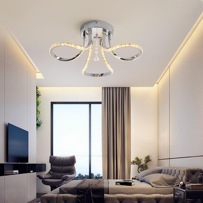 Modern LED Crystal Chandelier For Living Room Bedroom Master room Cristal  Lustre Chrome Finish 110V 220V Home Deco Chandelier