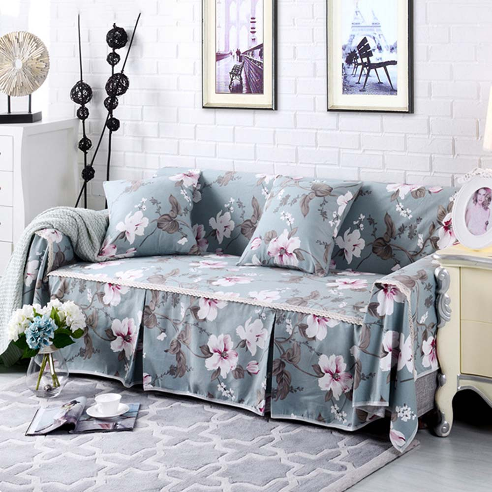 Fashion Floral Pattern Sofa Towel Furniture Protector Slipcover For Two Three Seats slip resistant full sofa Cover