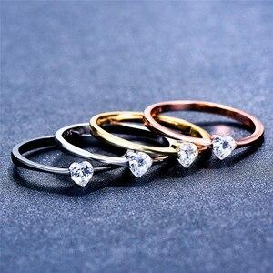 Женское кольцо с мелким сердечком, из 100% серебра 925 пробы с цирконием, Женское кольцо в стиле бохо