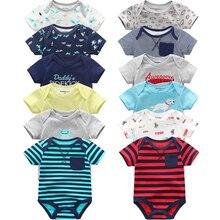 Супер хлопковый Детский боди, модный 6 шт./лот боди для новорожденных, детские костюмы, комбинезоны с короткими рукавами, комбинезон для маленьких мальчиков и девочек, детская одежда