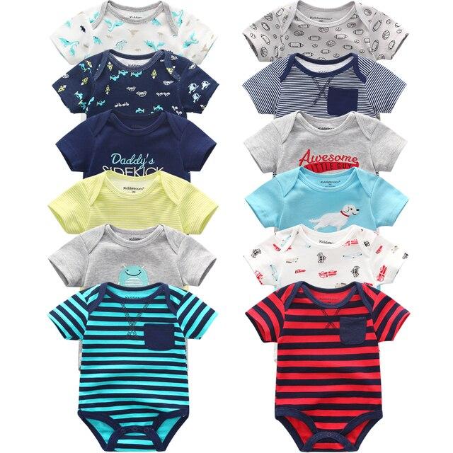 Супер хлопковый боди для новорожденных, 6 шт./лот, комбинезоны с коротким рукавом для мальчиков и девочек