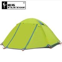 2.5 кг Водонепроницаемый палатка 1 2 человек двухслойные Алюминий Род Путешествия Рыбалка пляж палатка открытый Палатки кемпинг семья Китай