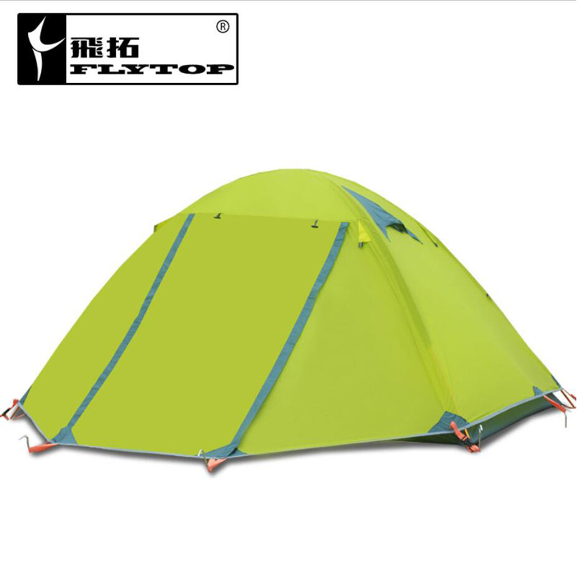 2.5kg Waterproof Tent 1-2 Person Double Layers Aluminum Rod Travel Fishing Beach Camping Tent Outdoor Tents Camping Family China outdoor waterproof folding ultralight camping tent 1 2 person double door fishing tourist tent beach tent hiking family tent