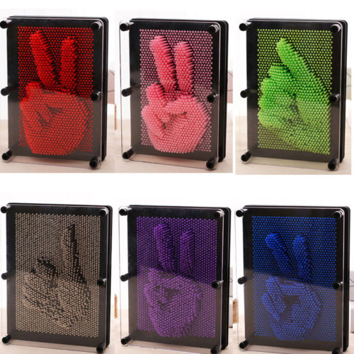 1Pcs Funny Fingerprint Needle 3D Clone Pin Art Plastic Kids Toys Christmas Gifts Decor Craft Random Color